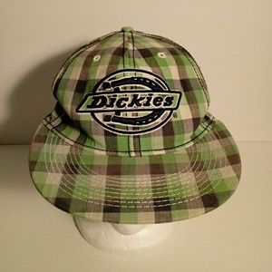 Dickies Plaid Womens 100% Cotton Hat Cap Small